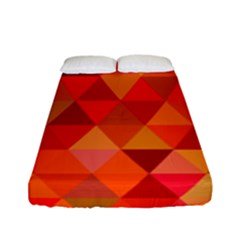 Red Hot Triangle Tile Mosaic Fitted Sheet (full/ Double Size)