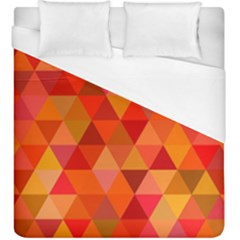 Red Hot Triangle Tile Mosaic Duvet Cover (king Size)
