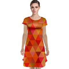 Red Hot Triangle Tile Mosaic Cap Sleeve Nightdress