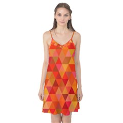 Red Hot Triangle Tile Mosaic Camis Nightgown