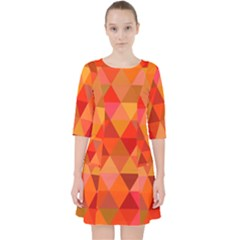 Red Hot Triangle Tile Mosaic Pocket Dress