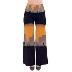 City Buildings Couple Man Women Pants
