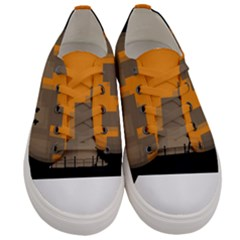 City Buildings Couple Man Women Women s Low Top Canvas Sneakers