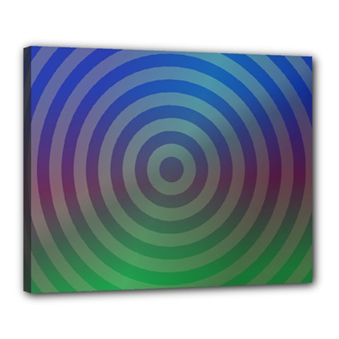 Blue Green Abstract Background Canvas 20  X 16  by Nexatart