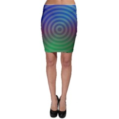 Blue Green Abstract Background Bodycon Skirt