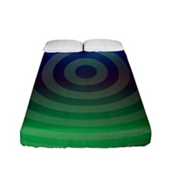 Blue Green Abstract Background Fitted Sheet (full/ Double Size)