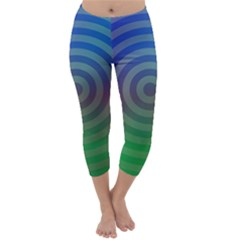 Blue Green Abstract Background Capri Winter Leggings