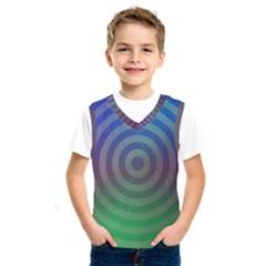 Blue Green Abstract Background Kids  Sportswear