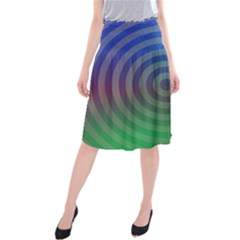 Blue Green Abstract Background Midi Beach Skirt