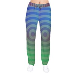 Blue Green Abstract Background Drawstring Pants