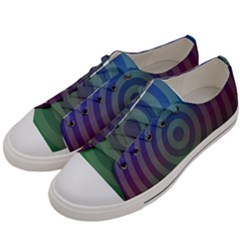 Blue Green Abstract Background Women s Low Top Canvas Sneakers by Nexatart