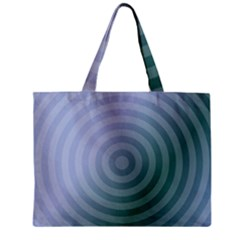 Teal Background Concentric Zipper Mini Tote Bag by Nexatart