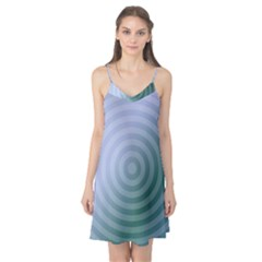 Teal Background Concentric Camis Nightgown
