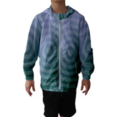 Teal Background Concentric Hooded Wind Breaker (kids)