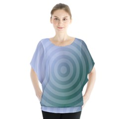 Teal Background Concentric Blouse