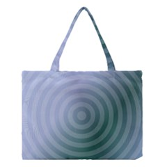 Teal Background Concentric Medium Tote Bag by Nexatart
