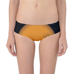 Couple Dog View Clouds Tree Cliff Classic Bikini Bottoms