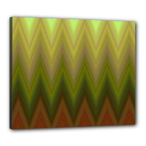 Zig Zag Chevron Classic Pattern Canvas 24  X 20