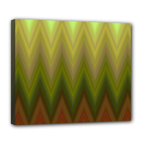 Zig Zag Chevron Classic Pattern Deluxe Canvas 24  X 20   by Nexatart