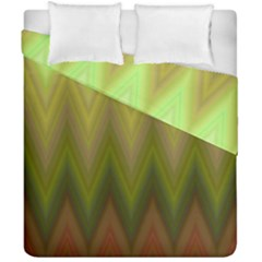 Zig Zag Chevron Classic Pattern Duvet Cover Double Side (california King Size) by Nexatart