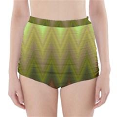 Zig Zag Chevron Classic Pattern High Waisted Bikini Bottoms