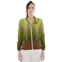 Zig Zag Chevron Classic Pattern Wind Breaker (women)