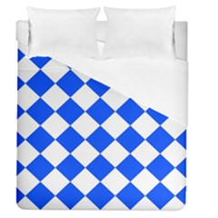 Blue White Diamonds Seamless Duvet Cover (queen Size) by Nexatart