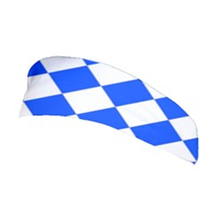 Blue White Diamonds Seamless Stretchable Headband