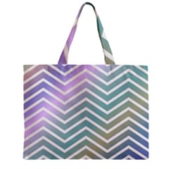 Zigzag Line Pattern Zig Zag Zipper Mini Tote Bag by Nexatart