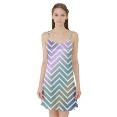 Zigzag Line Pattern Zig Zag Satin Night Slip