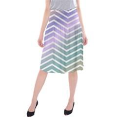 Zigzag Line Pattern Zig Zag Midi Beach Skirt by Nexatart