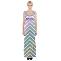 Zigzag Line Pattern Zig Zag Maxi Thigh Split Dress