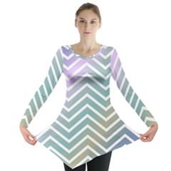Zigzag Line Pattern Zig Zag Long Sleeve Tunic