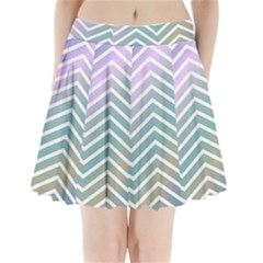 Zigzag Line Pattern Zig Zag Pleated Mini Skirt