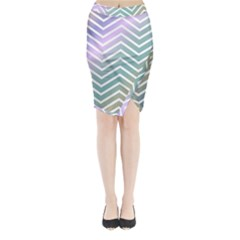 Zigzag Line Pattern Zig Zag Midi Wrap Pencil Skirt