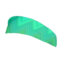 Green Zig Zag Chevron Classic Pattern Stretchable Headband