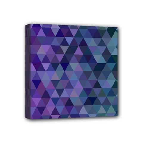Triangle Tile Mosaic Pattern Mini Canvas 4  X 4