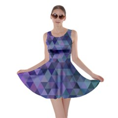 Triangle Tile Mosaic Pattern Skater Dress