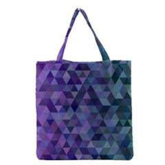 Triangle Tile Mosaic Pattern Grocery Tote Bag
