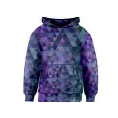 Triangle Tile Mosaic Pattern Kids  Pullover Hoodie by Nexatart