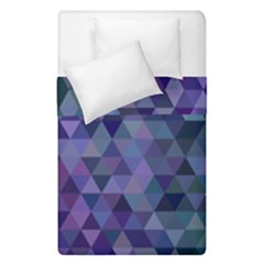 Triangle Tile Mosaic Pattern Duvet Cover Double Side (single Size) by Nexatart