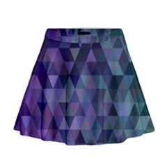 Triangle Tile Mosaic Pattern Mini Flare Skirt