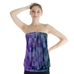 Triangle Tile Mosaic Pattern Strapless Top