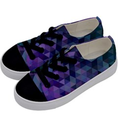 Triangle Tile Mosaic Pattern Kids  Low Top Canvas Sneakers by Nexatart