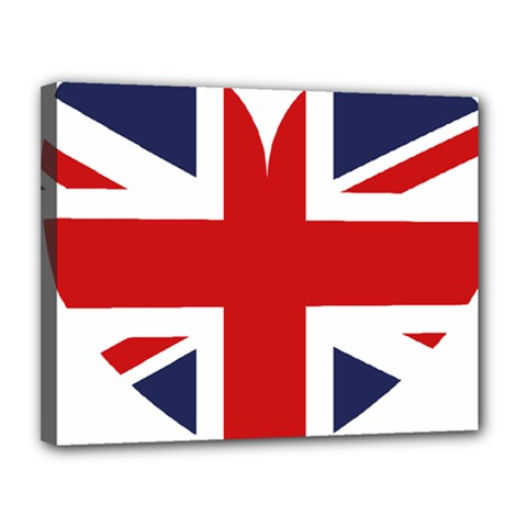 Uk Flag United Kingdom Canvas 14  X 11