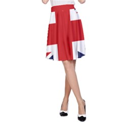 Uk Flag United Kingdom A Line Skirt