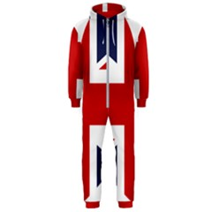 Uk Flag United Kingdom Hooded Jumpsuit (men)