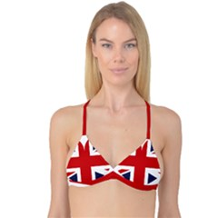 Uk Flag United Kingdom Reversible Tri Bikini Top