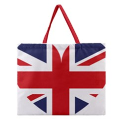 Uk Flag United Kingdom Zipper Large Tote Bag by Nexatart