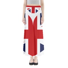 Uk Flag United Kingdom Full Length Maxi Skirt